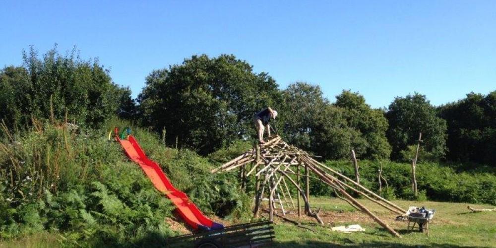 Construction d'une cabane
