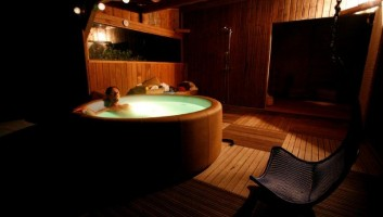 Hot tub and sauna