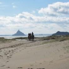 Promenade à cheval au Mont Saint Michel