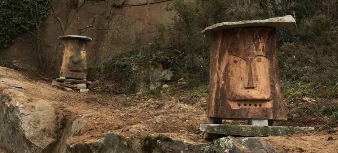 Moai-Bienenstöcke warten auf Mieter
